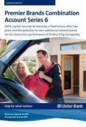 Premier Brands Combination Account Series 6 - Ulster Bank