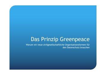 Das Prinzip Greenpeace - SuMa-Lab