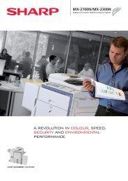 MX-2700N/2300N Brochure GB - Sharp