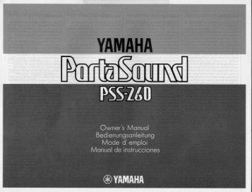 Owners Manual - Yamaha