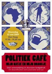 POLITIEK CAFÉ - Both ENDS