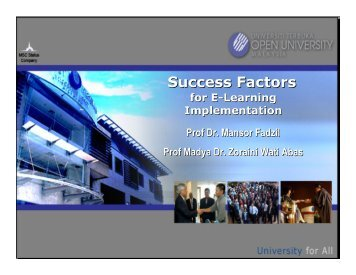 Success Factors - Open University Malaysia