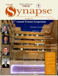 October Synapse 2011.pub - MCCG General Surgery Residency