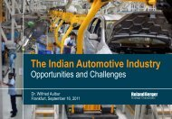 The Indian Automotive Industry