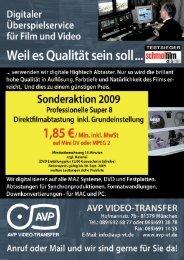 AUFTRAGSFORMULAR für Sommeraktion 2009 - AVP Video ...