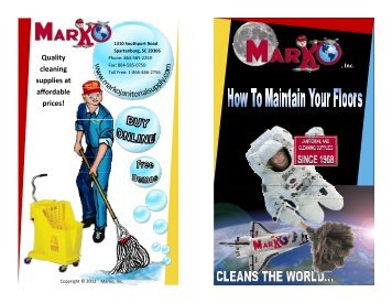 Quality cleaning supplies at affordable prices! - Marko, Inc.