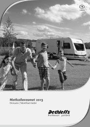Matkailuvaunut 2013 - Dethleffs