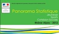 Panorama statistique 2012 - DRJSCS rhone-alpes