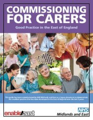 COMMISSIONING FOR CARERS