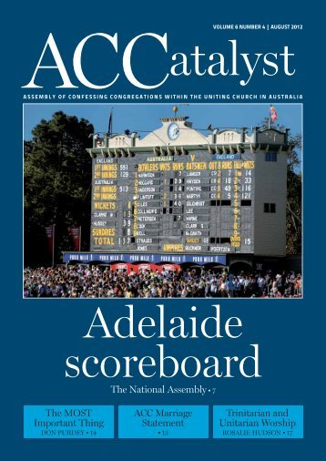 Download the August 2012 edition - Assembly of Confessing ...