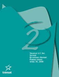 Second quarter report (PDF - 465KB) - Transat, Inc.
