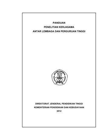 Panduan Kerjasama Antar Lembaga dan PT 2012
