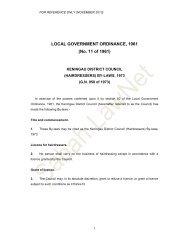LOCAL GOVERNMENT ORDINANCE, 1961 (No. 11 ... - Sabah Lawnet