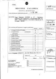 D.G.R. n° 606 del 14/09/2010 - Regione Calabria - Dipartimento ...