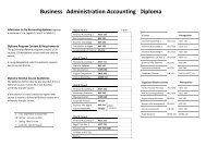 Business Administration Accounting Diploma - Business, School of ...