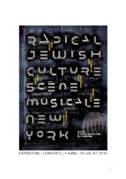 Radical Jewish Culture - Radio France