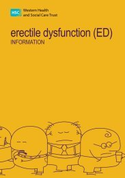 erectile dysfunction (ed) information - Western Health and Social ...