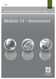 Module 13 – Inventories - Focus IFRS