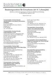 Beatmungszentren für Erwachsene (ab 16 ... - ALS-Selbsthilfe