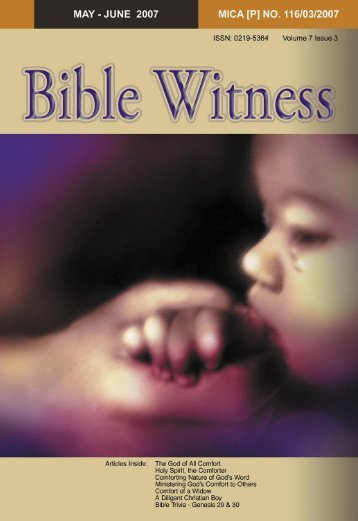 The Comfort Of God - Bible Witness
