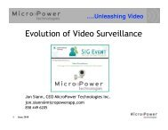 Evolution of Video Surveillance