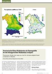Provisorische Klima-Risikokarten als ... - Wald und Klima