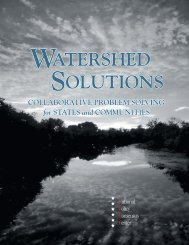 Watershed Solutions - Policy Consensus Initiative and National ...