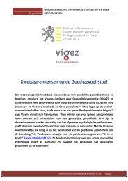 Kwetsbare mensen op de Goed-gevoel-stoel - Vlaams Instituut voor ...
