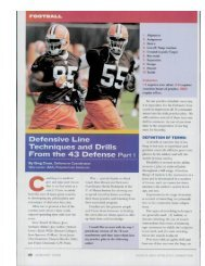 Defensive Line Techniques and Drills From the 43 Defense Part i