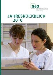 jahresrückblick 2010 - GLG Gesellschaft für Leben und Gesundheit ...