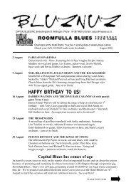 HAPPY BIRTHDAY TO US! - New Zealand Blues Society