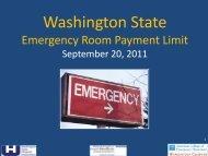 Emergency Room Visit Limit - Washington State Hospital Association