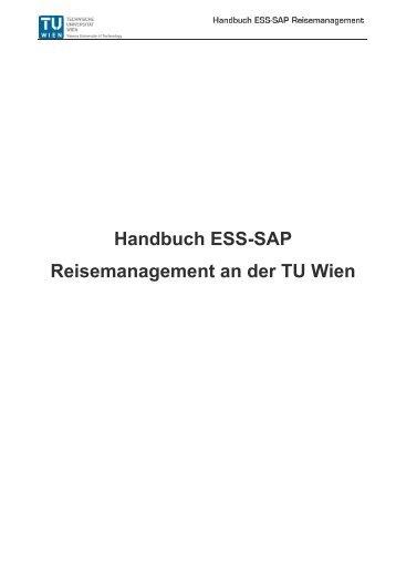 Handbuch ESS-SAP Reisemanagement an der TU Wien