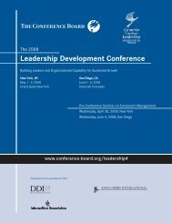 Leadership Development Conference - The Conference Board