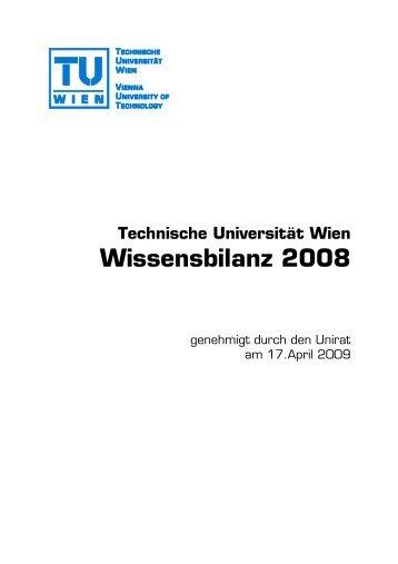 Wissensbilanz 2008 der TU WIEN