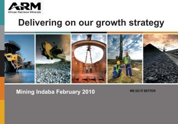 Mining Indaba 2010: Delivering on our growth strategy - ARM