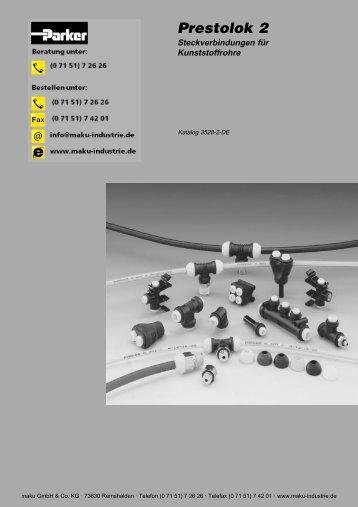 73-3528-2-DE Prestolok2 Steckverbindungen für Kunststoffr. - Parker