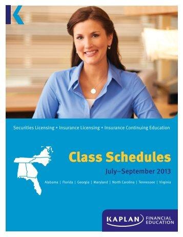 Virginia Class Schedules