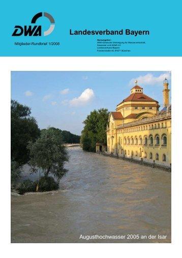 Wasserwirtschaft in Bayern - aktuelle Herausforderungen