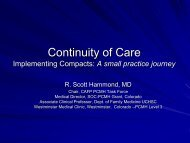 Continuity of Care A small practice perspective - About Medical Home