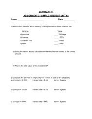 A&W MATH 11 ASSIGNMENT 3 - SIMPLE INTEREST UNIT #3 ...