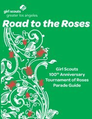 Road to the Roses - Girl Scouts of Greater Los Angeles