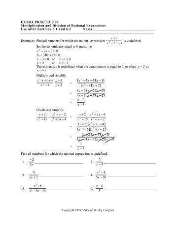 multiply divide rational expressions ws 1 - Multiplying And Dividing Rational Expressions Worksheet