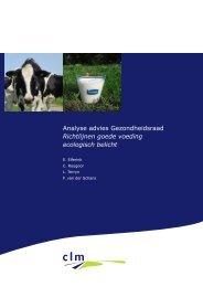 Analyse advies Gezondheidsraad Richtlijnen goede voeding ... - Clm