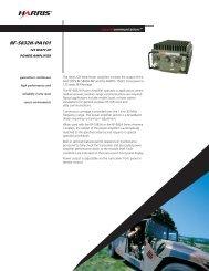 RF-5832H-PA101 125 Watt HF Power Amplifier Data Sheet
