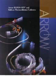 Arrow Thermodilution Catheter Brochure (PDF)