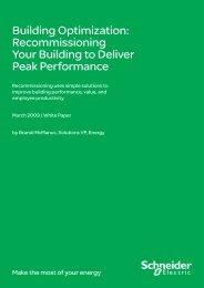 Building Optimisation (pdf 87kb) - Schneider Electric
