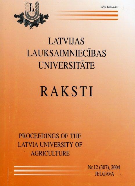 saturs - Latvijas Lauksaimniecības universitāte