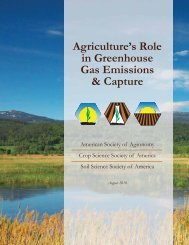 Agriculture's Role in Greenhouse Gas Emissions & Capture