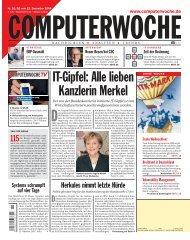 IT‡Gipfel: Alle lieben Kanzlerin Merkel